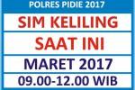 Jadwal SIM Keliling Polres Pidie Maret 2017