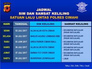 Jadwal SIM Keliling Cimahi Juli 2017