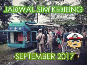 Jadwal SIM Keliling Bantul April 2017