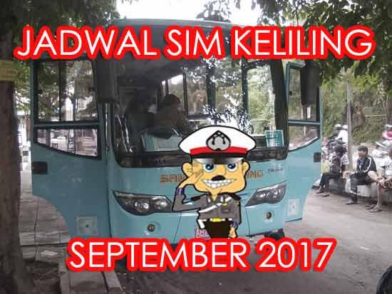 Jadwal SIM Keliling Sleman September 2017