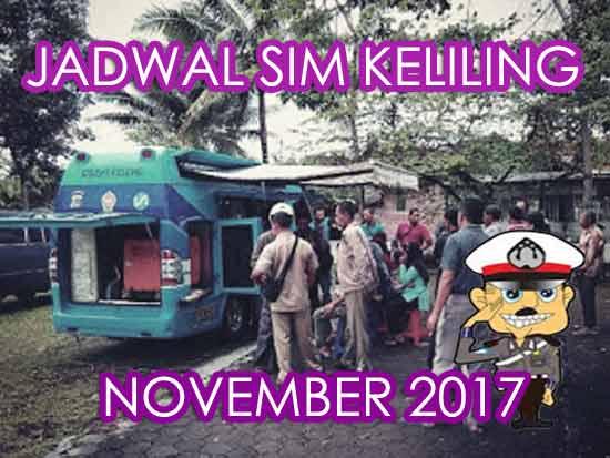 Jadwal SIM Keliling Bantul November 2017