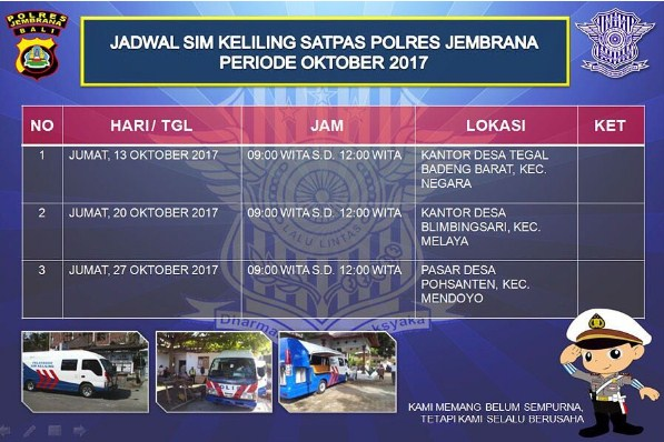sim keliling Jembrana Oktober 2017