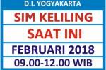 Jadwal SIM Kelilin DIY Februari 2018