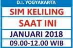 Jadwal SIM Kelilin DIY Januari 2018