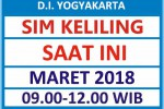Jadwal SIM Kelilin DIY Maret 2018
