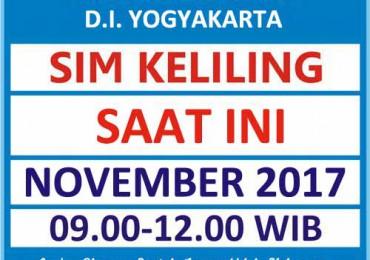 Jadwal SIM Kelilin DIY November 2017