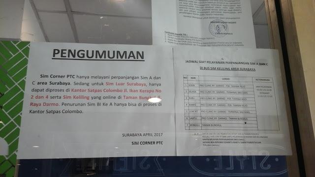 Informasi SIM Corner PTC Surabaya