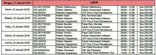 Jadwal SIM Keliling Yogyakarta Juni 2019 Gunung Kidul