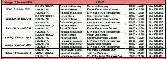 Jadwal SIM Keliling Yogyakarta Juni 2019 Kulon Progo