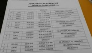 Jadwal SIM Keliling Brebes 2021