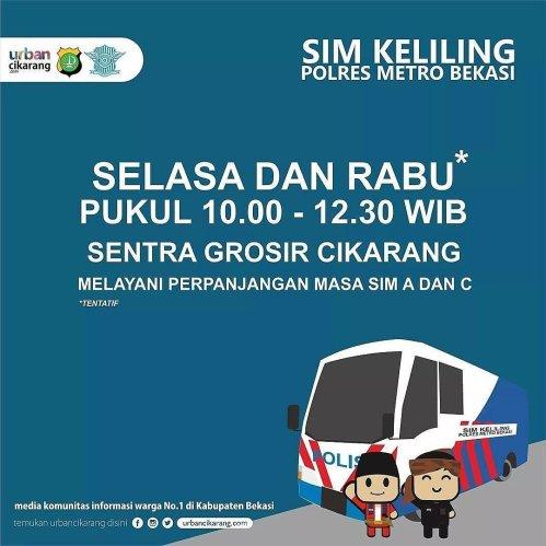 SIM Keliling Metro Bekasi SENTRA GTOSIR CIKARANG
