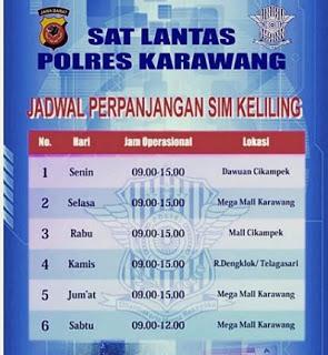 Jadwal SIM Keliling Karawang 2019