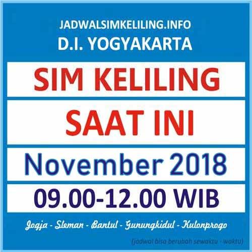 Jadwal SIM Keliling Bantul November 2018