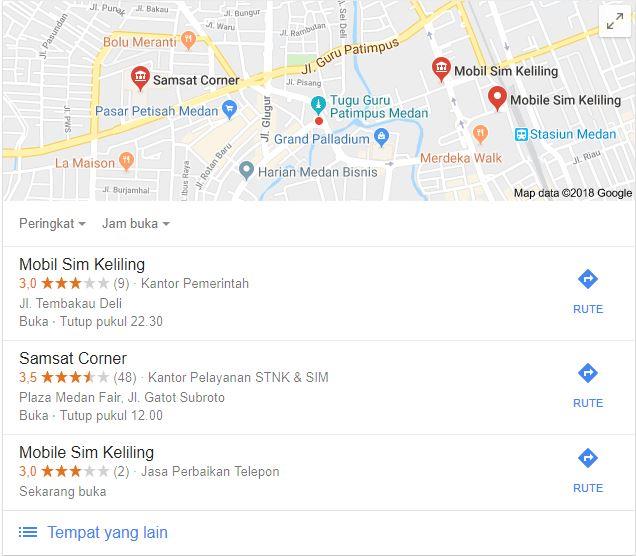 Lokasi SIM Keliling Medan