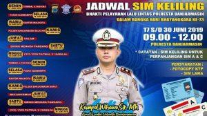 Jadwal SIM Keliling Banjarmasin Juni 2019