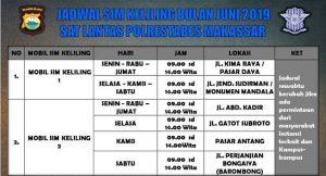 Jadwal SIM Keliling Makassar Juni 2019