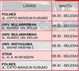 Jadwal SIM Keliling Samarinda November 2019