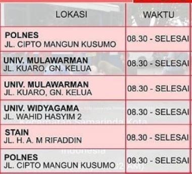 Jadwal SIM Keliling Samarinda Desember 2019