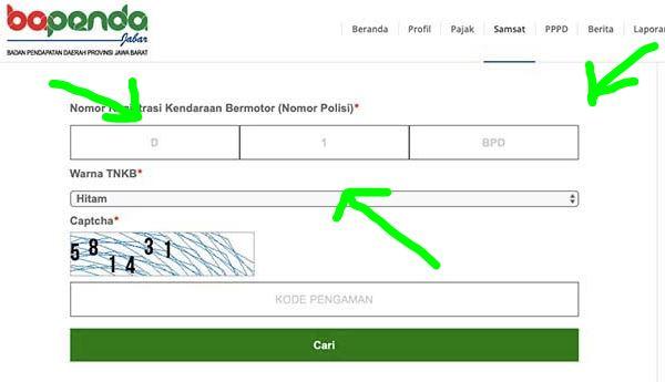 Cara melacak plat nomor via website