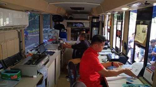 Pelayanan mobil Samsat keliling Jakarta Pusat