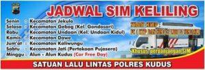 Jadwal sim keliling kabupaten kudus 2021