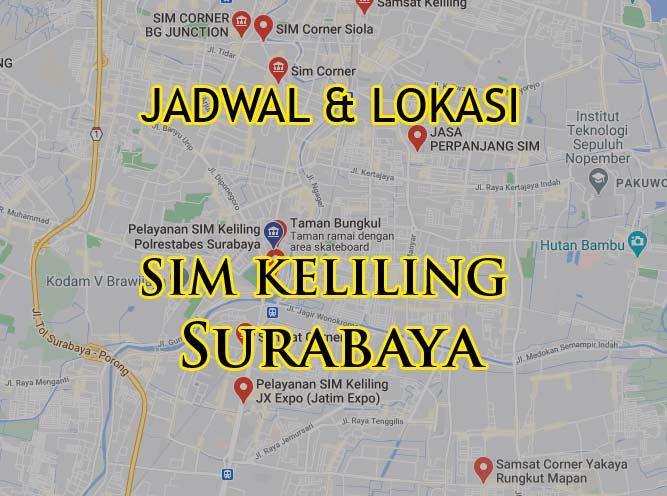 Lokasi Jadwal SIM Keliling Surabaya