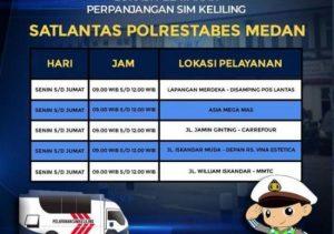 foto jadwal pelayanan mobil sim Medan