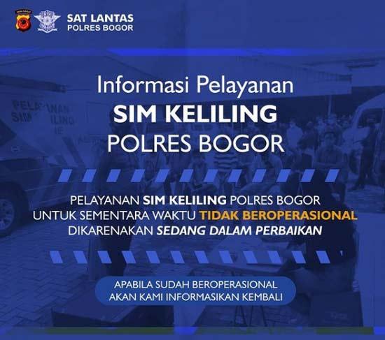 Update informasi Jadwal SIM Keliling Bogor Juni 2021