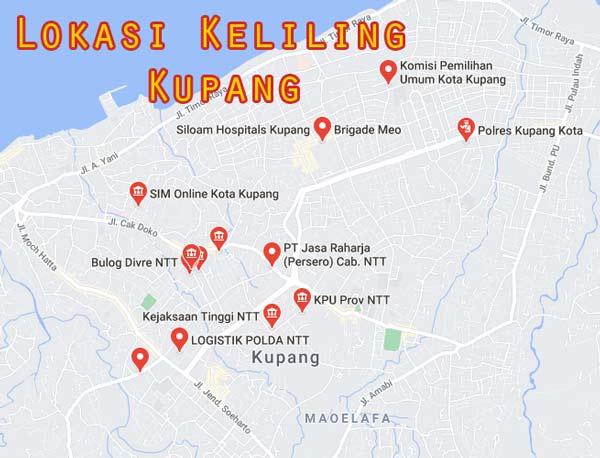 Map Lokasi sim Keliling Kota Kupang