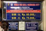 Biaya perpanjangan SIM di SIM Corner