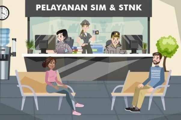 Pelayanan SIM dan STNK Corner